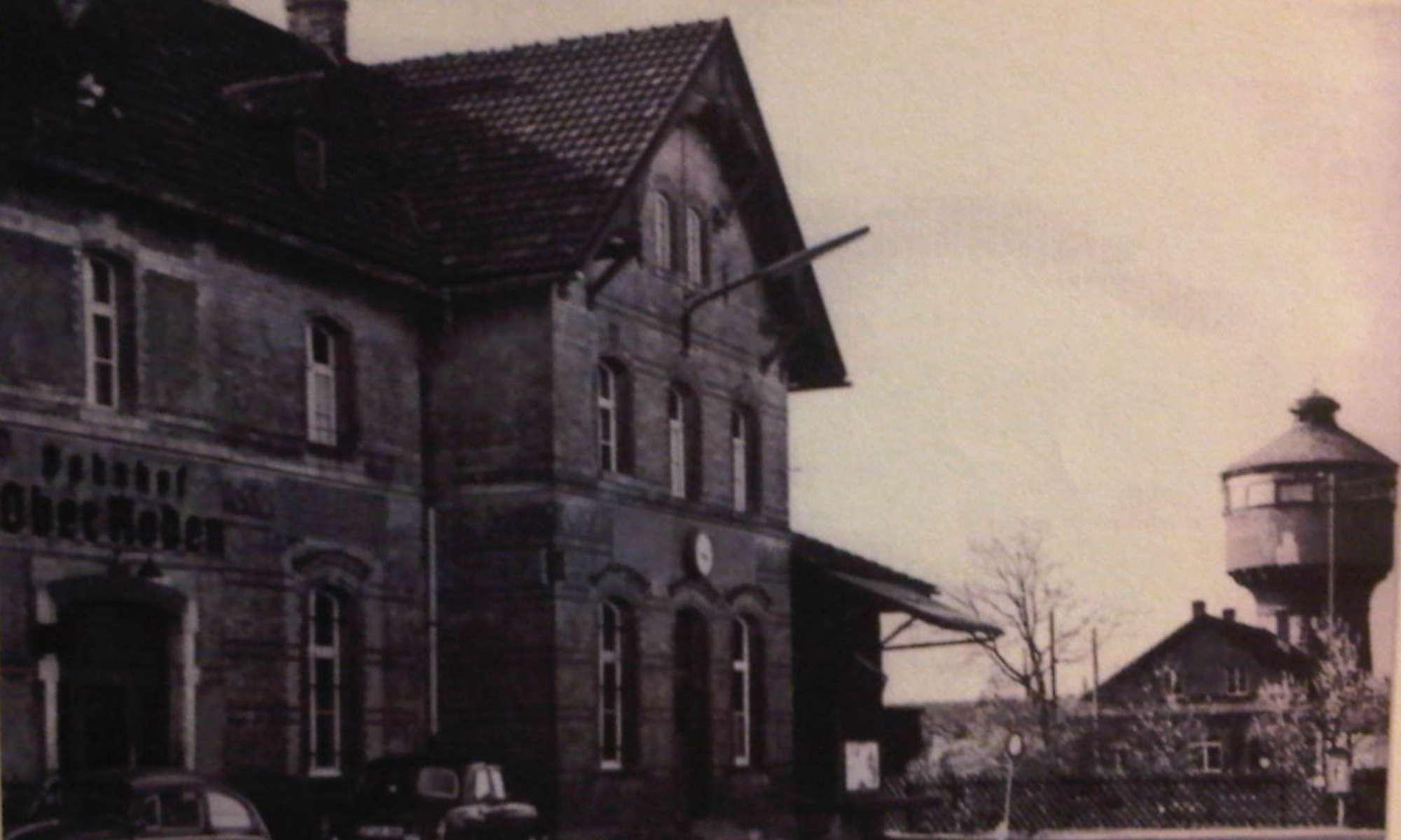 Vorplatz Richtung Wasserturm (ca. 1960)
