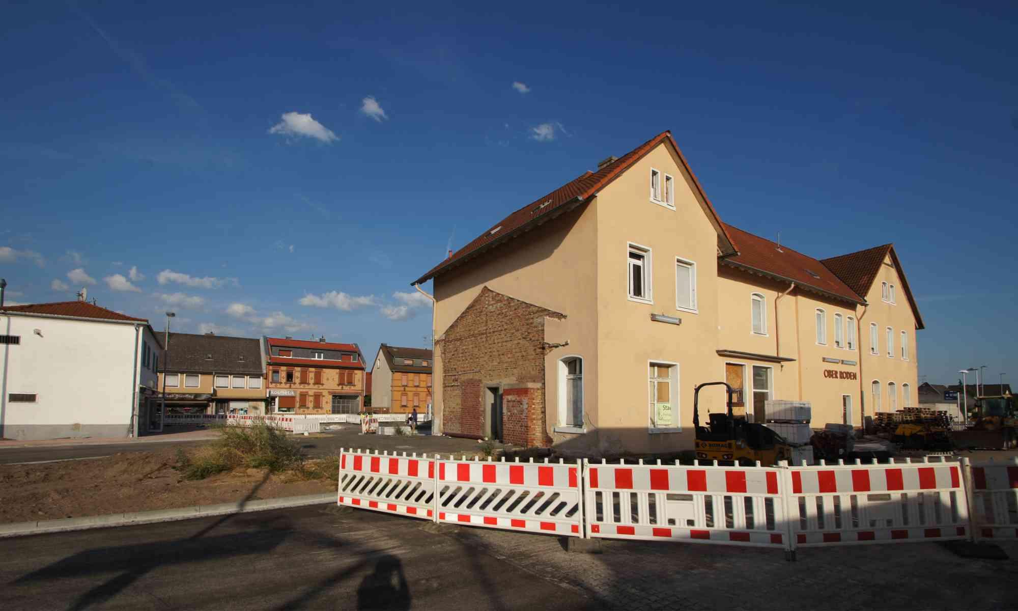 Bahnhof Ober-Roden während der Sanierung